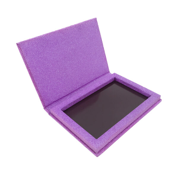 Customized Purple Glitter Paper Makeup